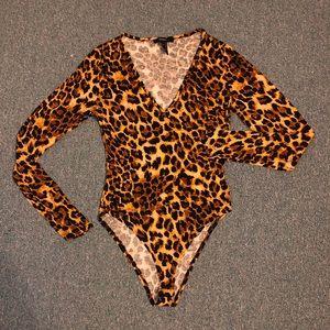 Cheetah print body suit ✨